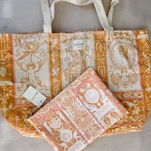 NWT Sezane tote and pouch set
